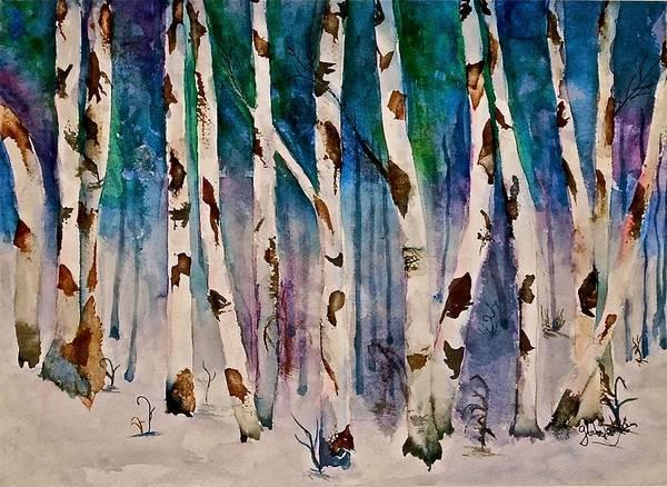Wall Art - Painting - Woodland Winter by Gloria Warren