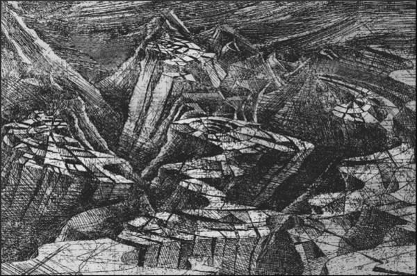 Drawing - Woodscape 1976 by Glenn Bautista