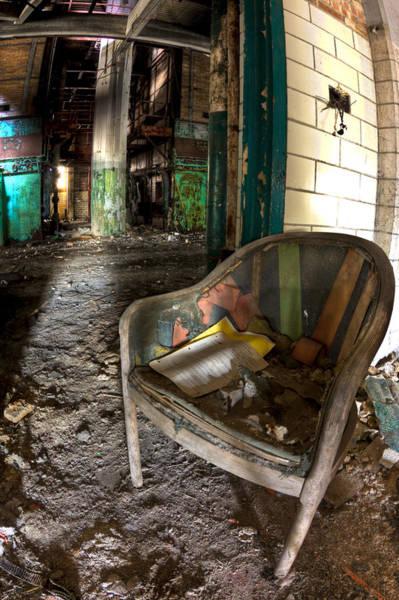 Wall Art - Photograph - Worker's Chair by Joshua Ball
