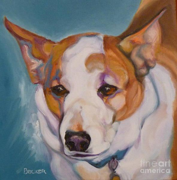 Painting - Working Corgi Mix by Susan A Becker