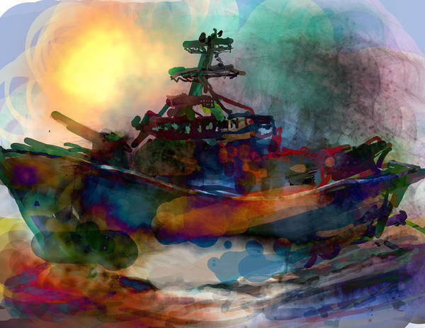 Wall Art - Digital Art - Working Vessel by James Thomas