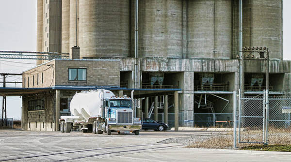 Cement Photograph - Working2 by Peter Chilelli
