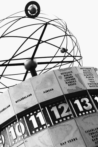 Wall Art - Photograph - World Clock Berlin by Falko Follert
