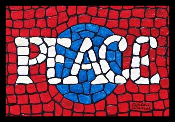Art Print featuring the painting World Peace by Cynthia Amaral