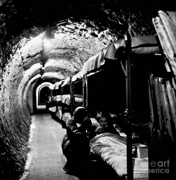 Photograph - World War II: Bomb Shelter by Granger