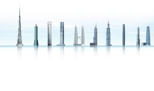 Wall Art - Photograph - World's Tallest Buildings, Artwork by Claus Lunau