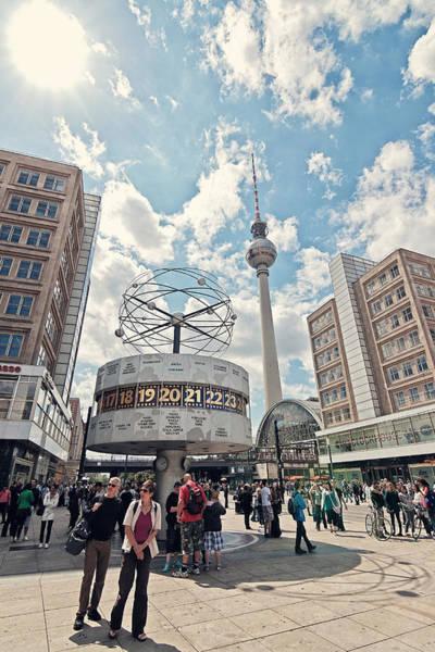 Fernsehturm Photograph - Worldtime Clock by Benjamin Matthijs