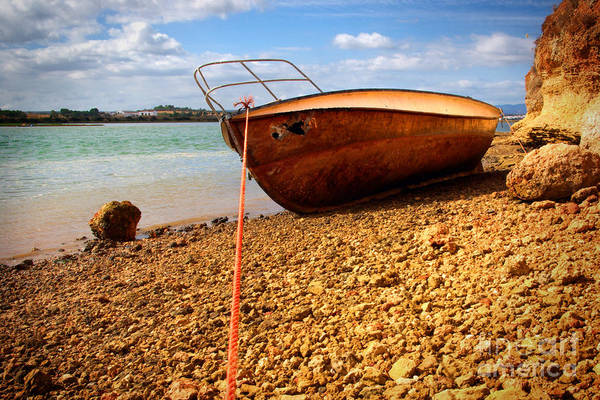 Work Boat Photograph - Wrack by Carlos Caetano