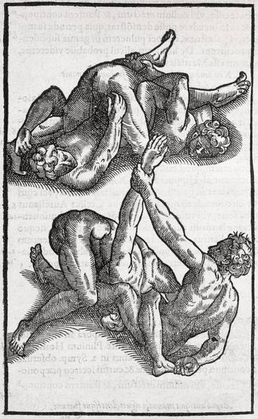 Arte Photograph - Wrestling Moves, 16th Century Artwork by Middle Temple Library