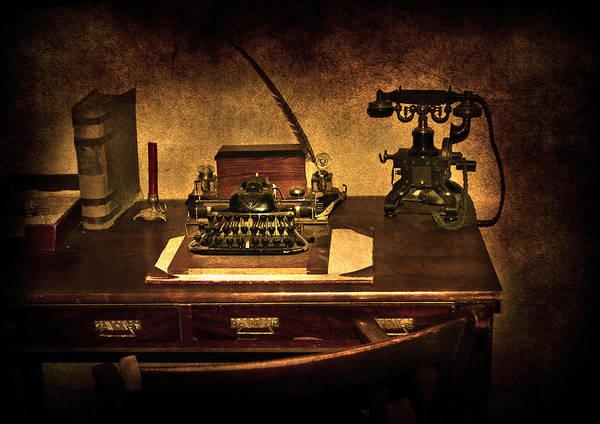 Tab Photograph - Writers Desk by Svetlana Sewell
