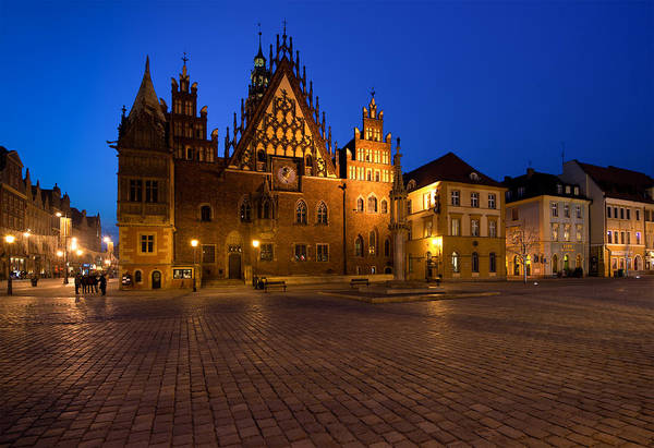 Photograph - Wroclaw Town Hall At Night by Sebastian Musial