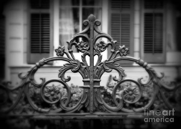 Fleur De Lis Photograph - Wrought Iron Detail by Perry Webster