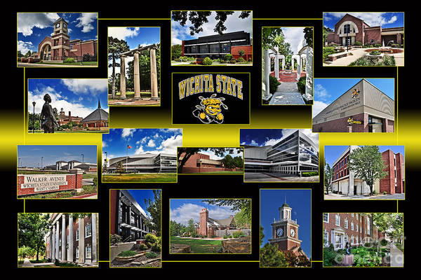 Wsu Collage Art Print
