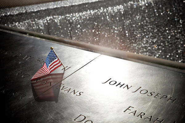 Wall Art - Photograph - Wtc Memorial Flag by Patrick  Flynn