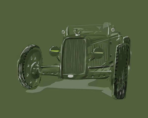 Exhaust Digital Art - Ww2 Rod by Jeremy Lacy