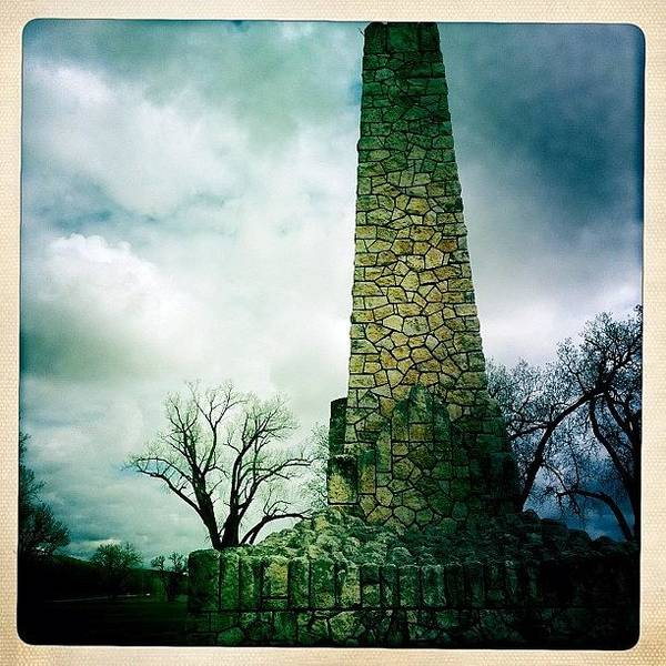 Military Photograph - Wwi Monument At Fort Riley Ks by Cody Barnhart