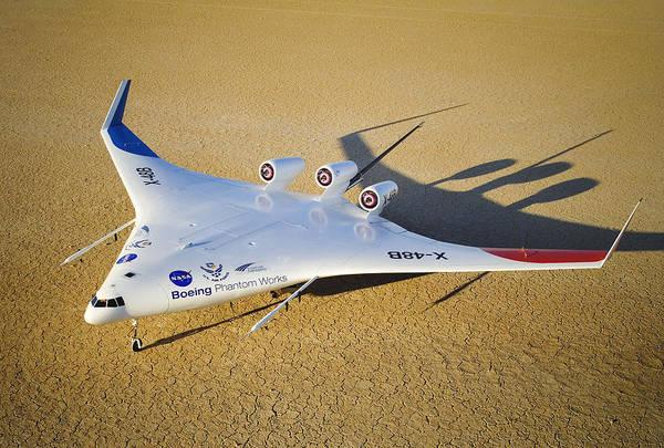 X Wing Photograph - X-48b Blended Wing Body Aircraft Model by Robert Ferguson, Nasa