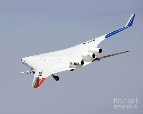 X Wing Photograph - X-48b Blended Wing Body In Flight by Stocktrek Images