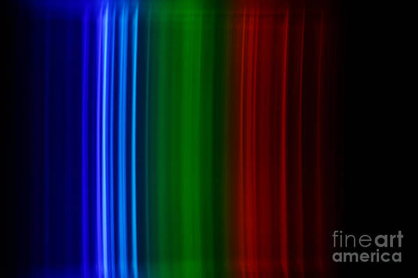 Grating Wall Art - Photograph - Xenon Spectra by Ted Kinsman