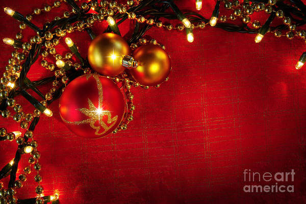 Banners Photograph - Xmas Frame by Carlos Caetano