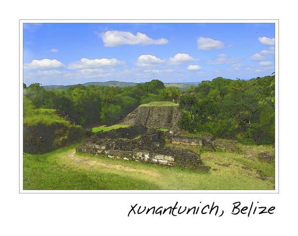 Archeology Digital Art - Xunantunich Belize Mayan Temple by Brandon Bourdages
