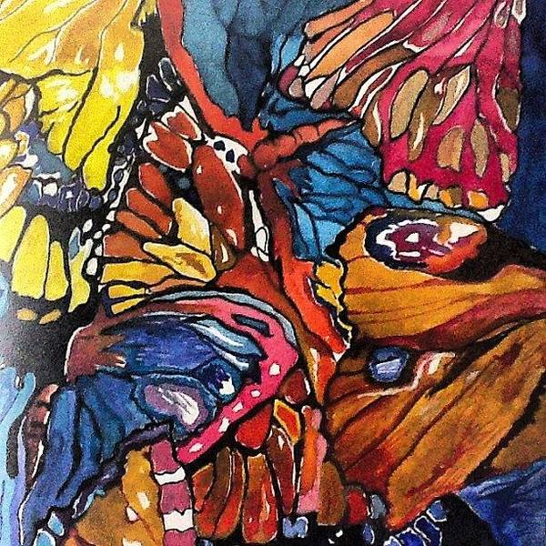 Painting - Butterflies Wings........ by Sandra Lira