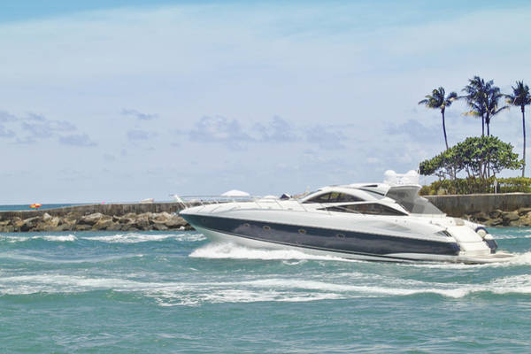 Photograph - Yacht In Inlet by Rudy Umans