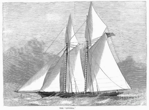 Livonia Photograph - Yacht: Livonia, 1871 by Granger