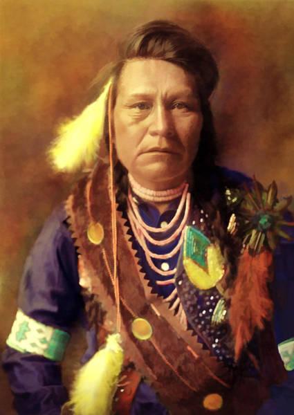 Digital Art - Yakima Indian by Rick Wicker