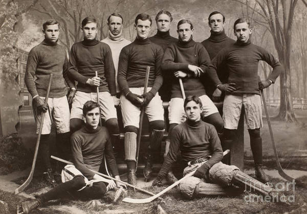 Photograph - Yale Ice Hockey Team, 1901 by Granger