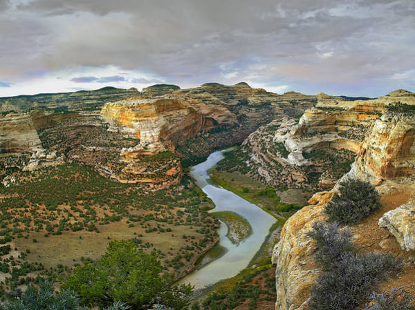 Dinosaur National Park Photograph - Yampa River Flowing Through Canyons by Tim Fitzharris