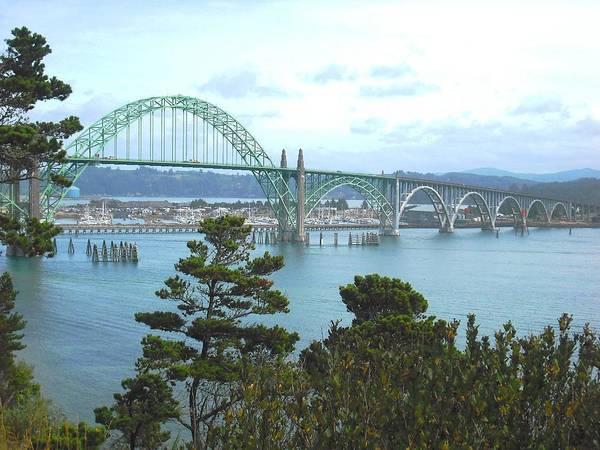 Photograph - Yaquina Bay Bridge Newport by Kelly Manning