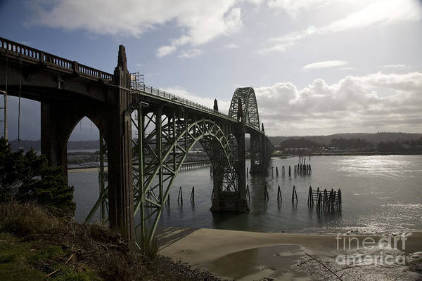 Expanse Photograph - Yaquina Bay Bridge No. 2 by Timothy Johnson
