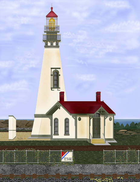 Wall Art - Painting - Yaquina Head Revisited by Anne Norskog