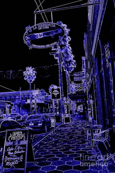 Photograph - Ybor City Sidewalk In Blue by Carol Groenen