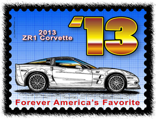 Digital Art - Year-by-year 2013 Zr1 Corvette by K Scott Teeters