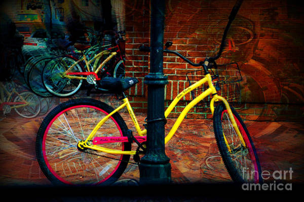 Photograph - Yellow Bike by Donna Bentley