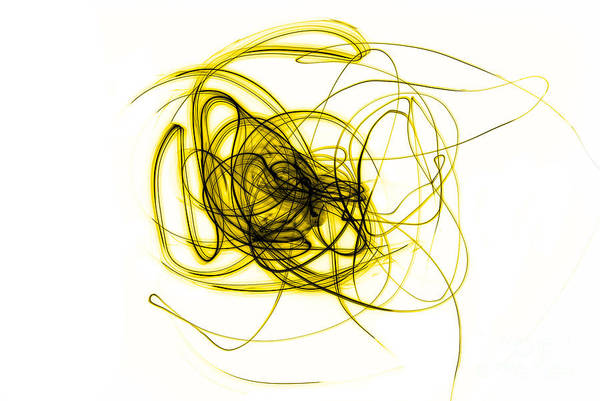 Sabine Photograph - Yellow Doodle by Sabine Jacobs