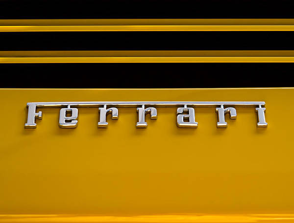 Wall Art - Digital Art - Yellow Ferrari Brightwork by Douglas Pittman