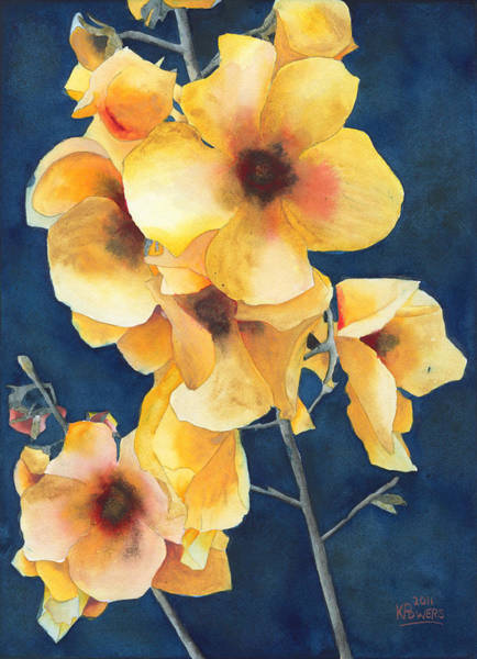 Painting - Yellow Flowers by Ken Powers
