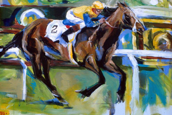 Painting - Yellow Horse Rider by John Jr Gholson
