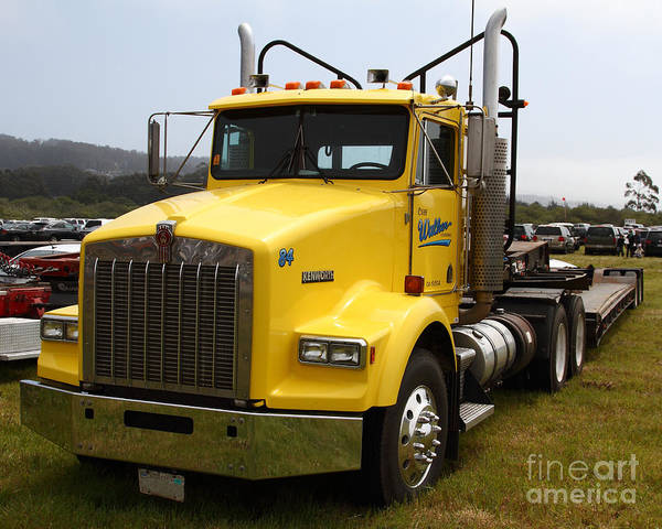 Kenworth Photograph - Yellow Kenworth Big Rig Truck 7d15118 by Wingsdomain Art and Photography