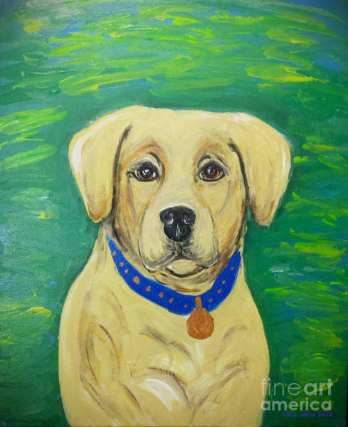 Painting - Yellow Lab by Ania M Milo