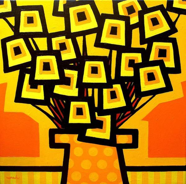Wall Art - Painting - Yellow Poppy Vase by John  Nolan