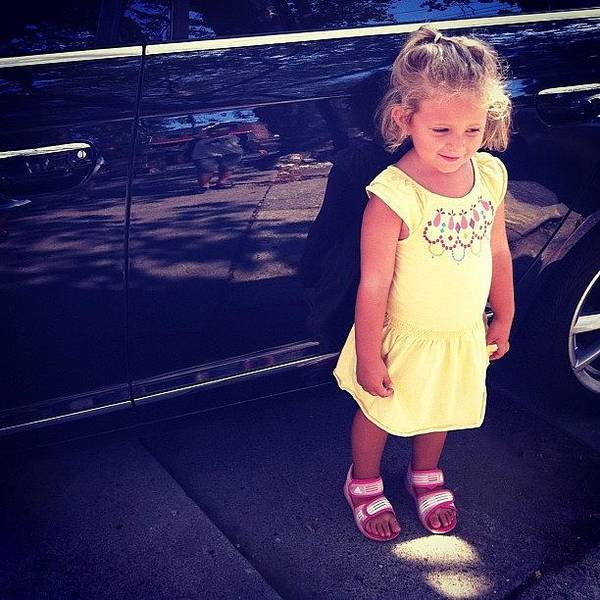 Audi Photograph - #yellow #pretty #cute #dress #little by Alex Mamutin