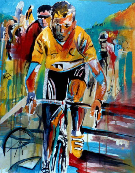 Painting - Yellow Race by John Jr Gholson