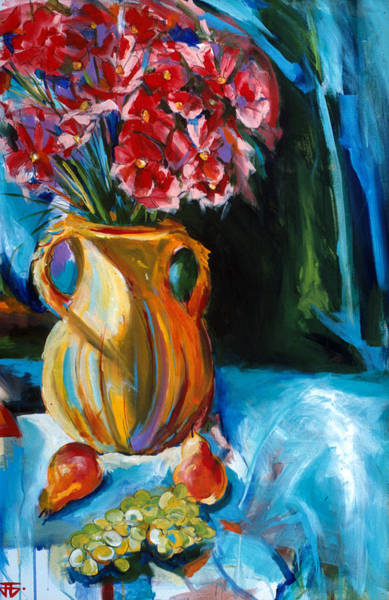 Painting - Yellow Vase by John Jr Gholson