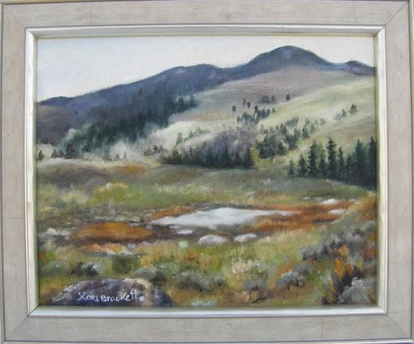 Painting - Yellowstone Backcountry Framed by Lori Brackett