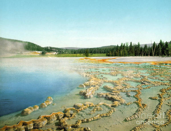 Photograph - Yellowstone: Hot Spring by Granger