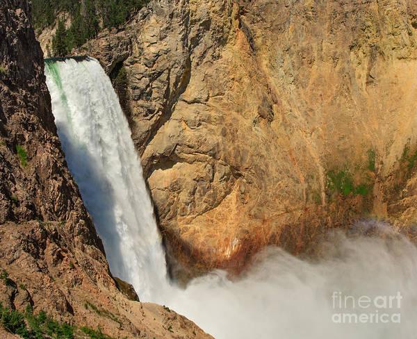Photograph - Yellowstone Lower Falls by Charles Kozierok